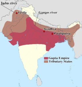 Tributary States of the Gupta Empire