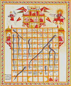 Ancient India Games Snakes and Ladders Dice
